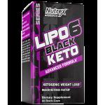 Nutrex Research Lipo-6 Black Keto Advanced Formula 60 Black-Caps