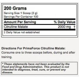 Primaforce Citrulline Malate - PreWorkout - 100 servings