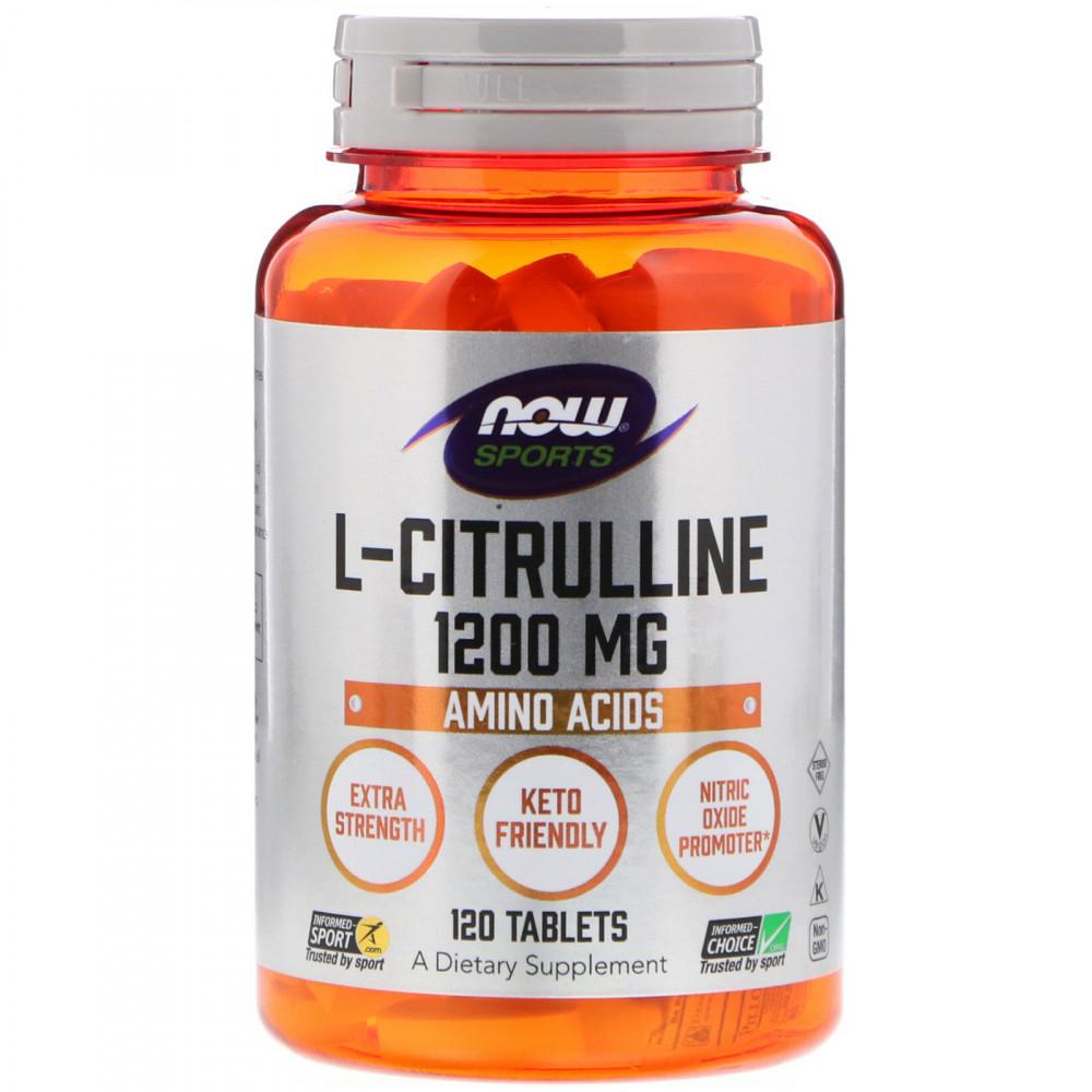 Now Foods, L-Citrulline, 1,200 mg, 120 Tablets